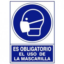 "Uso obligatorio ""Mascarilla"""